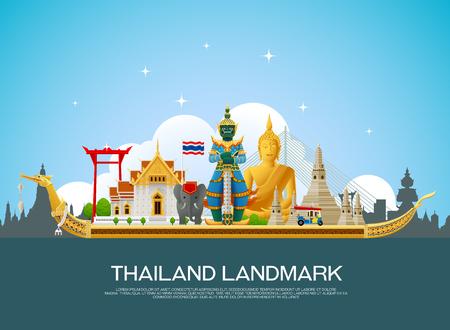 thailand landmark  イラスト・ベクター素材