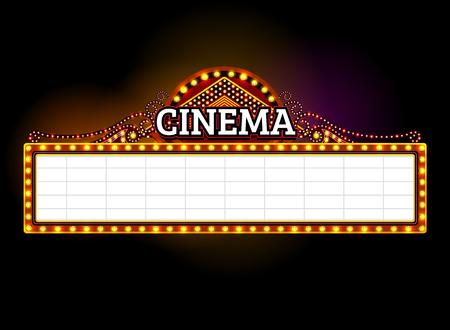 Theater sign. Illustration