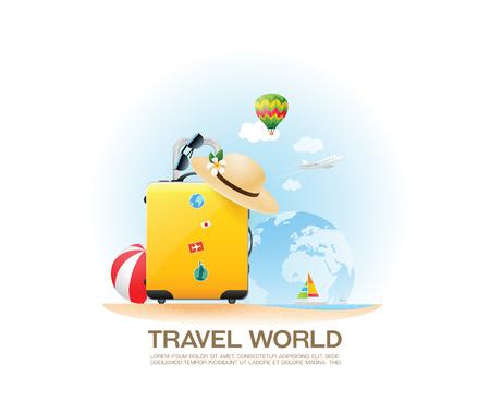 Travel bag and holiday.