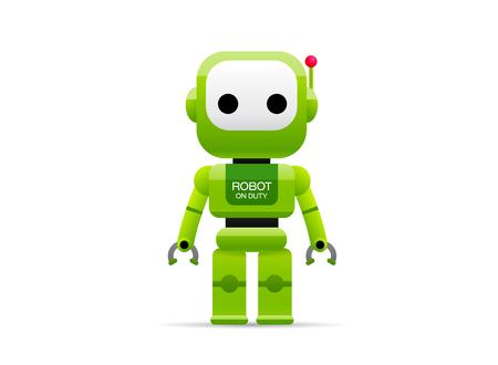 robot vector illustration cartoon style 일러스트