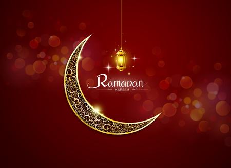 islamic pattern: ramadan kareem, ramadhan with lamp no mesh object vector illustration