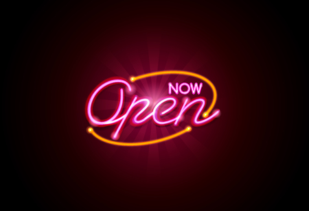 Now open neon sign light glow mesh object vector but easy to change color. Ilustração