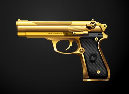 gun black metal weapon vector illustration 版權商用圖片 - 99753283