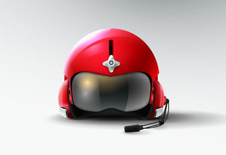 pilot jet helmet aviator vector illustration Stock Illustratie