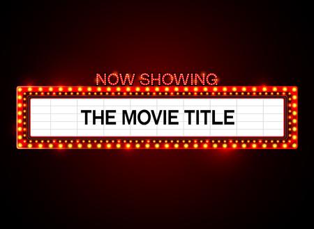 theater sign.cinema sign.las vegas sign.