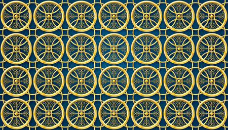 islamic pattern ramadan backgorund gold material vector illustration