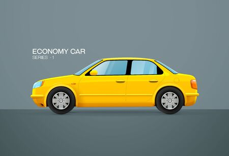 car economy vehicle side view vector illustration