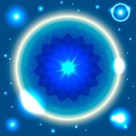 mantra: vector illustration Space Flower