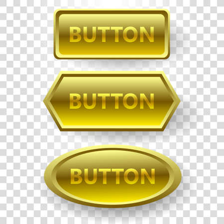 vector buttons: Vector buttons of different shapes