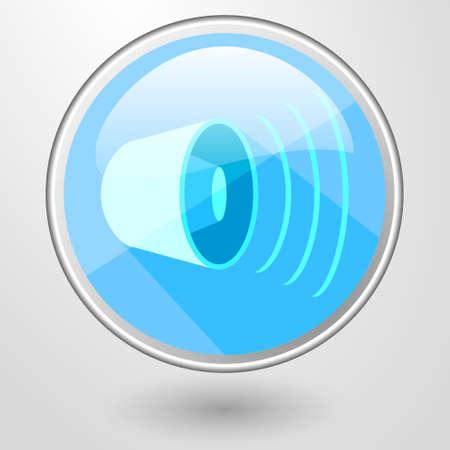 mp: vector color glass icon white speaker volume