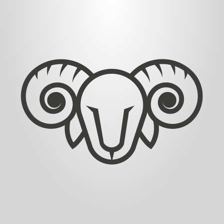 Black and white simple vector line art
