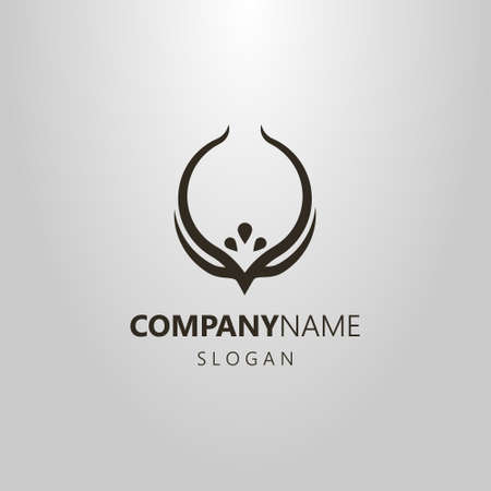 black and white simple art vector logo of a rounded diadem