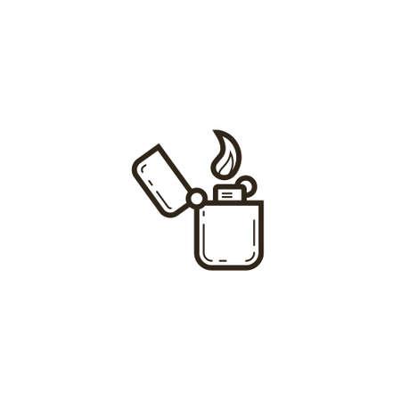 black and white simple vector line art lightener icon