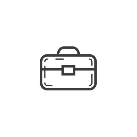 black and white simple vector line art outline portfolio icon