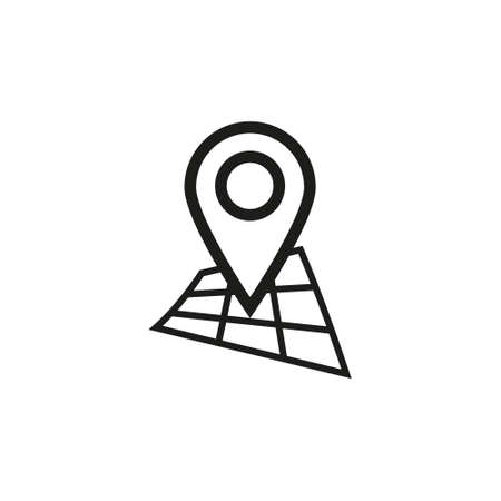 black and white simple outline icon Ilustração