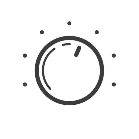 Black and white simple vector line art round icon icon