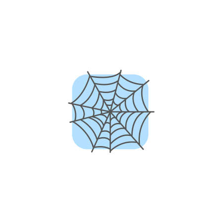 color simple vector art square simple spider web icon Stock Vector - 107619857