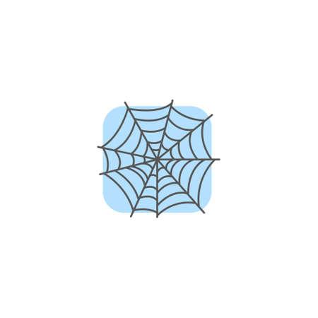 color simple vector art square simple spider web icon Illustration