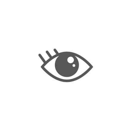 einfache Schwarzweiss-Vektorlinienkunstikone des Auges Vektorgrafik