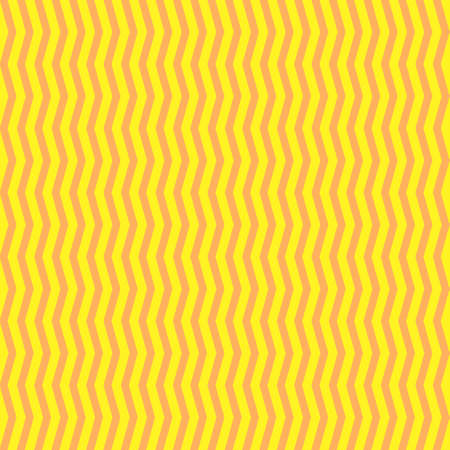 simple color vector flat art geometric seamless pattern of vertical yellow-orange angular wavy lines