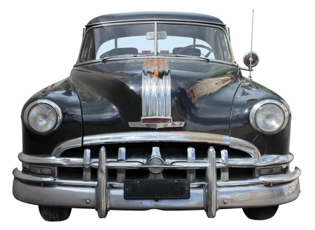Old Car Front View Isolated on White Background Stock Photo - 10233715