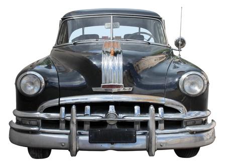 voiture ancienne: Vieux Vue de face de voiture isol� sur fond blanc