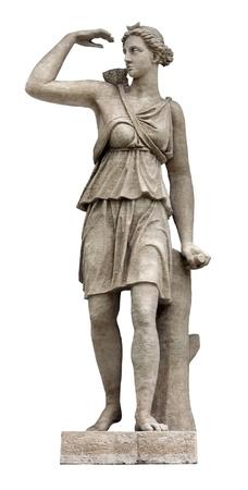 soeur jumelle: Art�mis (identifi�e avec Diana par les Romains) est la d�esse olympienne de la nature sauvage, la chasse et les animaux sauvages, et la fertilit�. Art�mis est la s?ur jumelle d'Apollon. Banque d'images