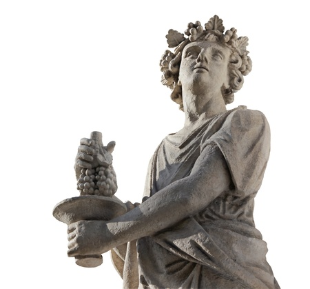 Dionysus is the Olympian God of the grape harvest, winemaking and wine. He was also known as Bacchus.