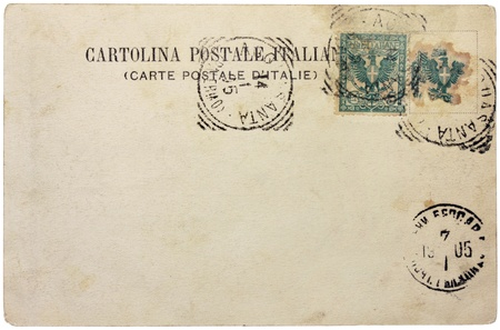 ITALY - CIRCA 1905: a stamp printed by ITALY shows eagle with the Arms of Savoy. Text in the image means:  photo