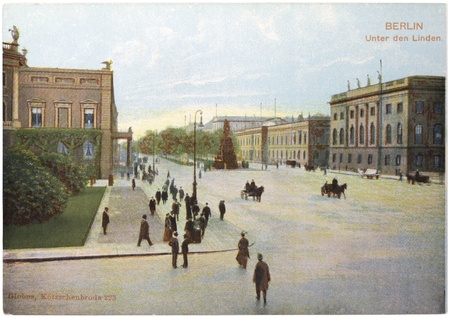 frederick street: GERMANY - CIRCA 1903: a postcard printed in GERMANY shows view of  Editorial