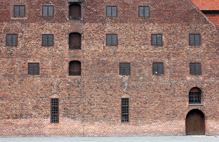 Closeup view of Christian IV's Brewhouse facade in Copenhagen, Denmark. Stock Photo - 15816662