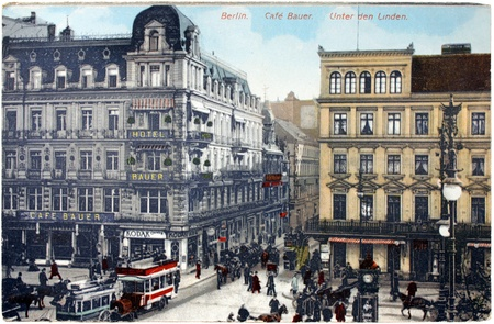 GERMANY - CIRCA 1911: a postcard printed in GERMANY shows view of  Editorial