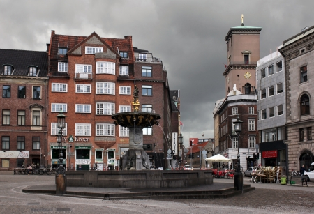 COPENHAGEN - MAY 17: Stroget - this popular tourist attraction in the center of town is the longest pedestrian shopping area in Europe in Copenhagen, Denmark. On May 17, 2012