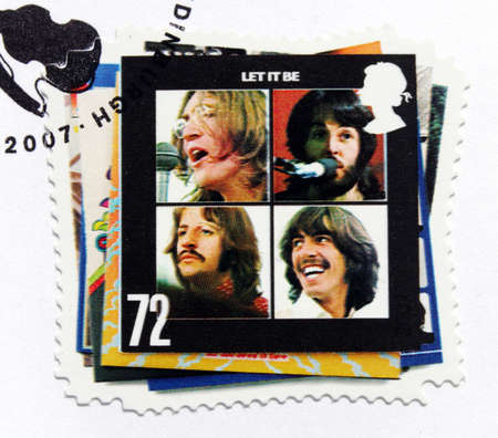GREAT BRITAIN - CIRCA 2007  a stamp printed by GREAT BRITAIN shows the Beatles album
