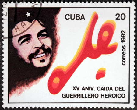 CUBA - CIRCA 1982: A postage stamp printed by CUBA shows image portrait of Argentine Marxist, a major figure of the Cuban Revolution Ernesto