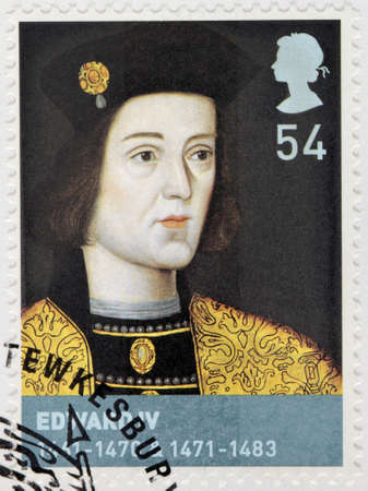 king edward: UNITED KINGDOM - CIRCA 2008: A stamp printed by GREAT BRITAIN shows King of England Edward IV. He was the first Yorkist King of England, circa 2008