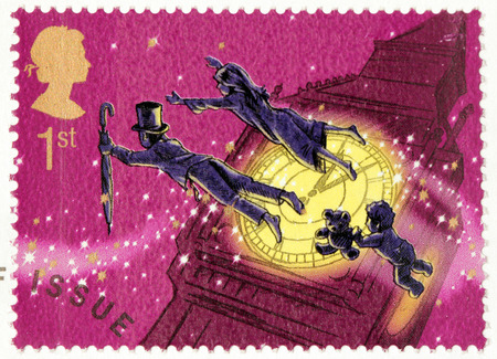 barrie: UNITED KINGDOM - CIRCA 2002: A stamp printed by GREAT BRITAIN shows  from Peter Pan stories by Scottish novelist and playwright James Matthew Barrie, circa 2002.