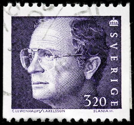 スウェーデンで印刷スタンプが 1994 年頃カール 16 世グスタフ、スウェーデン国王の画像肖像画を示していますルガ、ロシア - 2017 年 10 月 6 日。