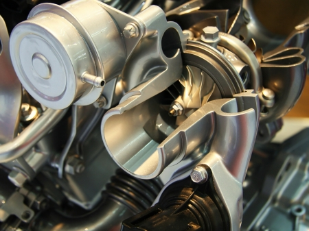 Cut off car turbocharger