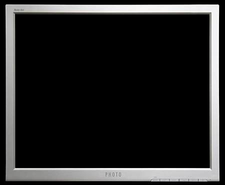 Empty  monitor picture frame Stock Photo - 16956370
