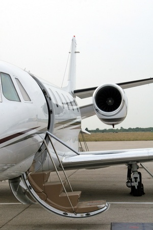 cessna: Business airplane ready for flight  Business transport concept