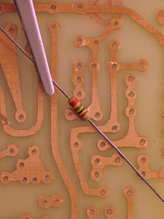 Amateur electronic construction photo