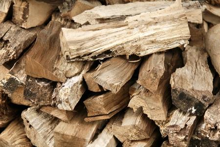 log wall: Riven wood Stock Photo