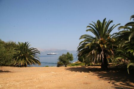 View from the small Greek island Vido Stock Photo - 17040426