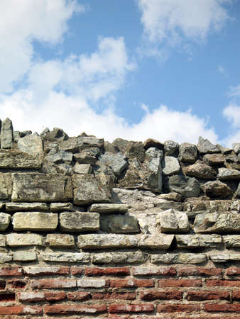 Ancient roman wall of fortress