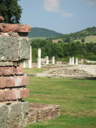 Look out on archaeological site along the wall Stock Photo - 17042991