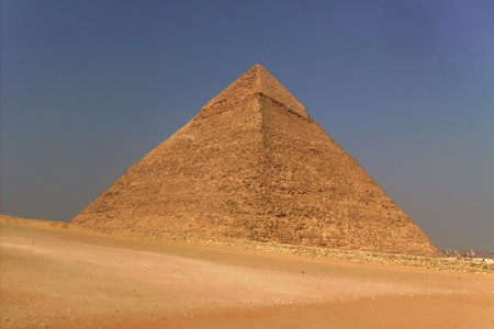 Pyramid in the desert storm