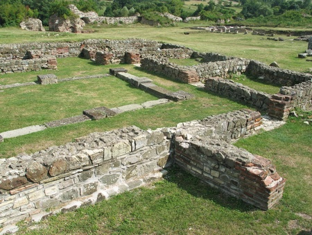 Look out on ancient roman archaeological site