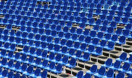 Empty stadium seats in the football game photo