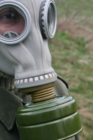 Gas mask self protection photo